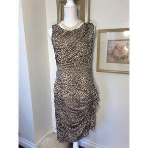 Betsy Johnson Animal Print Bodycon Dress Sz.10